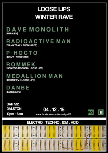 Loose Lips Winter Rave - with Dave Monolith, Radioactive Man, P-Hocto & Residents