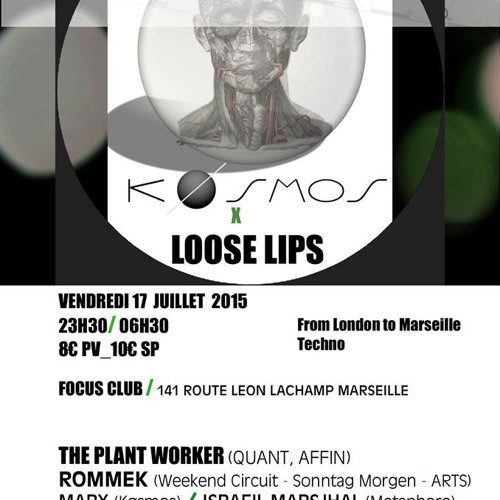 Køsmos & Loose Lips Launch Party with The Plant Worker, Rommek, Israfil Marsjhal + Many more…