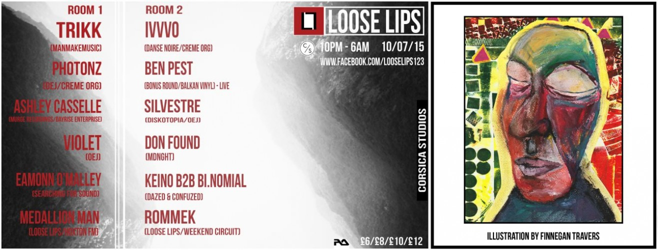 Loose Lips Summer Party with Trikk, Ivvvo, Photonz, Ashley Casselle, Ben Pest, Rommek