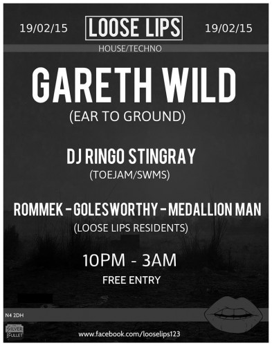 Loose Lips presents Gareth Wild, DJ Ringo Stingray