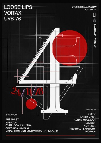 Loose Lips 4th Anniversary - LL x UVB 76 x Voitax - IN LONDON