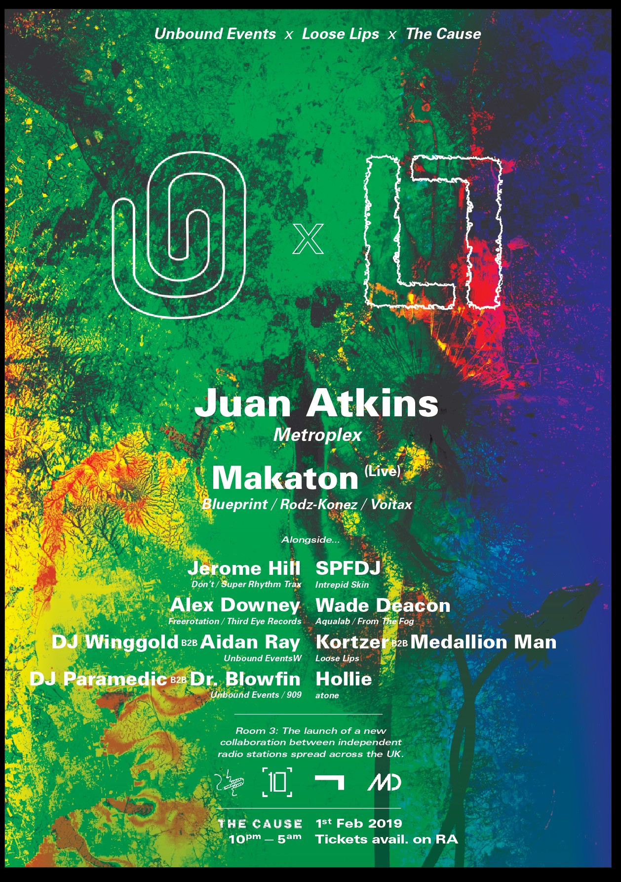 Loose Lips x Unbound with Juan Atkins, SPFDJ, Makaton, Alex Downey + more...