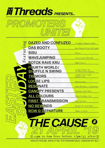 Threads Promoters Unite! Easter Sunday Rave