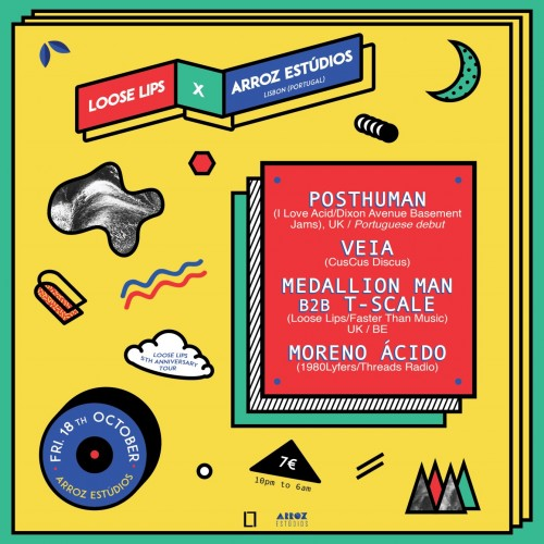 Loose Lips x Arroz Esudios - LL 5th Anniv. in Lisbon with Posthuman